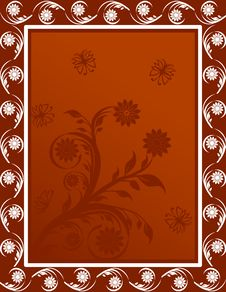 Free Floral Frame Royalty Free Stock Images - 15207959
