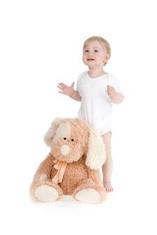 Free Infant Plushy Dog Stock Photos - 15208413