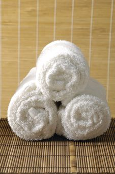 Free Rolled Towels Stock Images - 15209074