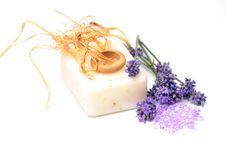 Soap With Natural Ingredients Stock Photos