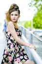 Free Teenager Girl Model Presenting Clothes In The Park Royalty Free Stock Image - 15211496