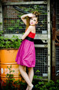 Free Teenager Girl Model Presenting Clothes Royalty Free Stock Photos - 15211598