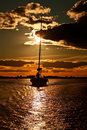 Free Yacht At Sunset. Royalty Free Stock Images - 15214769