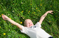Free Child On The Grass Royalty Free Stock Image - 15215776