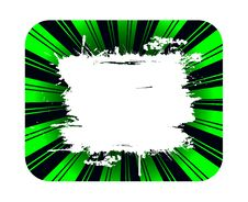 Free Grunge Green Background And White Banner Royalty Free Stock Photos - 15210358