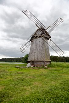 Old Windmill On A Meadow Royalty Free Stock Photography