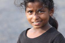 Indian Rural Girl Stock Photo