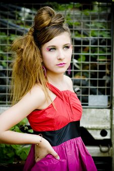 Free Teenager Girl Model Presenting Clothes Stock Photos - 15211683