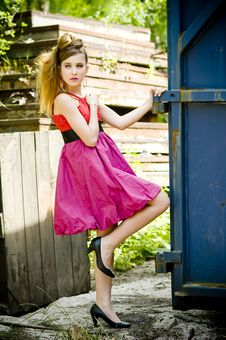 Free Teenager Girl Model Presenting Clothes Stock Image - 15211731