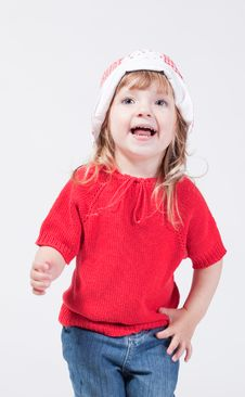 Free Cute Happy Smiling Child In Hat Stock Photos - 15212863