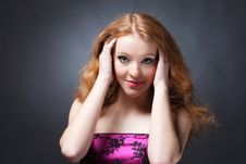 Free Beauty Portrait Of A Sensitive Red-haired Woman Stock Photo - 15212920