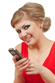 Free Girl With Cellphone Royalty Free Stock Photo - 15213205