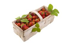 Strawberries In The Basket Stock Image