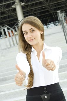 Free Businesswoman Thumbs Up Royalty Free Stock Photo - 15215045