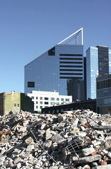 Free Demolished And New Buildings Royalty Free Stock Images - 15215839