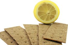 Free Crackling Bread And Lemon Royalty Free Stock Photography - 15216107