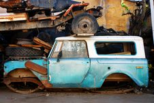 Old Abandoned Car Royalty Free Stock Photo