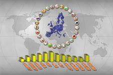 European Union Statistics Stock Images
