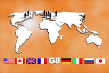 Free G8 Countries Royalty Free Stock Photos - 15216788