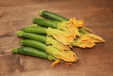Free Zucchini And Flower Stock Photography - 15216792