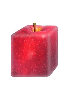 Free Square Red Apple Royalty Free Stock Photos - 15217038