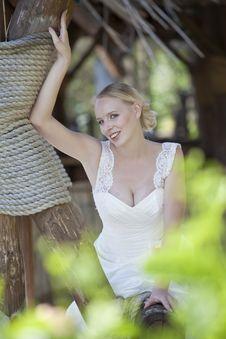 Free Happy Bride Outdoor Stock Image - 15217151