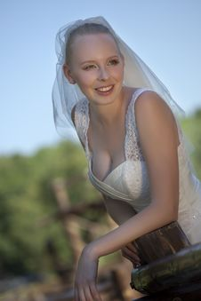 Free Happy Bride Outdoor Stock Image - 15217211