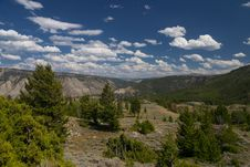 Yellowstone Landscape Royalty Free Stock Photos