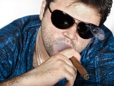 Free Man With Cigar Royalty Free Stock Photography - 15217727