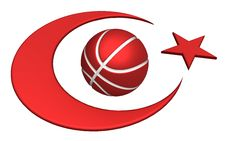 Free Turkey Flag With Basketball Royalty Free Stock Images - 15218349