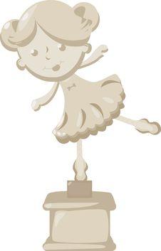 Free Ballerina Statue Stock Image - 15218951