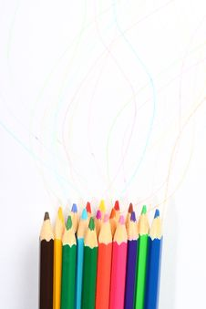Free Colored Pencil Royalty Free Stock Images - 15219129