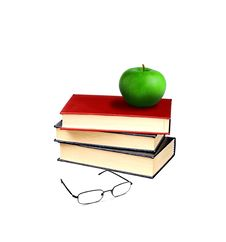 Free Books And Apple Stock Image - 15219161