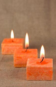 Free Three Burning Candles Royalty Free Stock Photography - 15219257