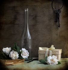 Still Life With A Bottle Stock Photography