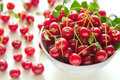 Free Cherries In A Bowl Stock Image - 15220611