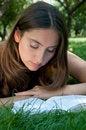 Free Girl Reading Book Stock Photos - 15229693