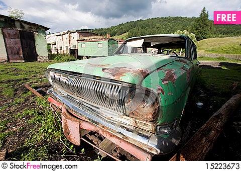 Free Old Car Wreck Stock Photos - 15223673
