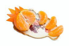 Tangerine Segments | Isolated Royalty Free Stock Images