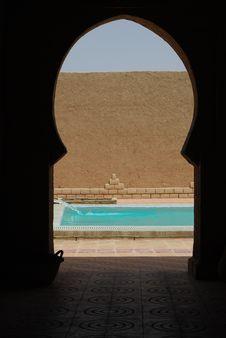 Free Pool Through Arch Stock Photo - 15220850
