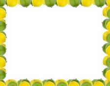 Free Lemon And Lime Border Royalty Free Stock Images - 15220929