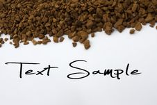 Free Coffee Beans Text Stock Images - 15221124