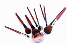Free Cosmetic Brushes Stock Photo - 15221480