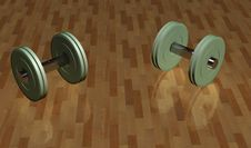 Free Bodybuilding Weights On The Floor Stock Image - 15221991