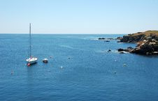 Free Peaceful Sea And Sailboat Royalty Free Stock Photos - 15222138