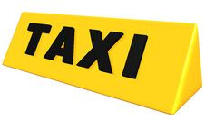 Free Taxi Sign Stock Image - 15222231