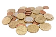 Coins From Europa Royalty Free Stock Images
