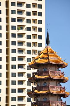 Bangkok - Traditional And Modern Highrise Stock Image