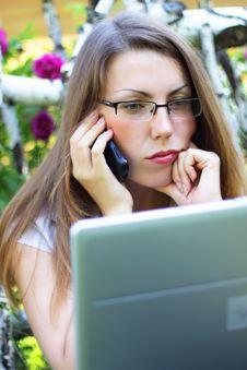 Free Girl Talking Stock Image - 15222571