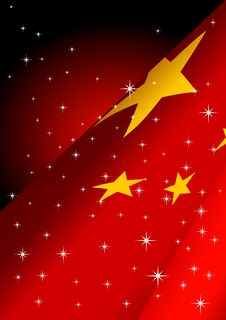Free Fancy Flag_People S Republic Of China Royalty Free Stock Photography - 15222827